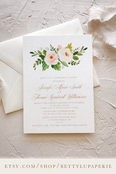 rehearsal dinner invitations, wedding, simple, southern, vintage, watercolor, greenery, ideas, traditional, gold, floral, peach, blush, country, summer, etsy #weddingprograms #weddingideas #rehearsaldinnerinvitations