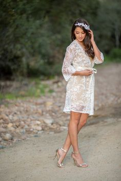 French Lace Robe for Bride A must-have for by IselleBridalStudio