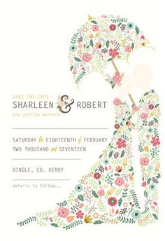 Floral Couple Save the Date Unique Wedding Invitations, Wedding Stationery, Invites, Floral Arch, Invitation Design, Save The Date, Summer Wedding, Wedding Inspiration, Range