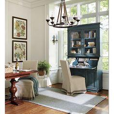 Parish Indoor/Outdoor Rug Love this room, esp color mix -  Ballard Designs