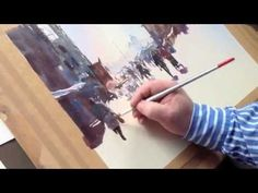 Trevor Waugh painting a Venetian Street Scene in Watercolor - Part 1