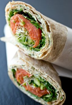 4. Smoked Salmon Lavash Wrap #healthy #picnic #recipes http://greatist.com/health/healthier-picnic-recipes