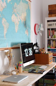 workspace inspiration #map #mac #office