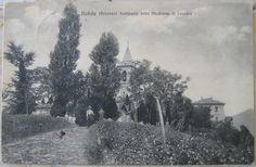 1918 Nobile (Brianza) Santuario delle Madonna di Lourdes n° 18 stab. Sovico e Figli - Como cartolina con 2 francobolli Italia da 5 centesimi