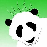 Illustration Of A Silhouette Of A Giant Panda