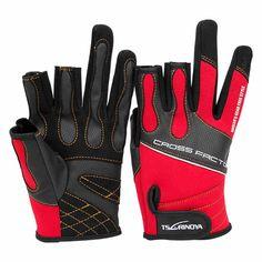 Trulinoya 3 finger gloves Waterproof anti-slip breathable fishing gloves size L XL redHigh quality outdoor gloves Fishing Life, Sport Fishing, Fishing Tackle, Fly Fishing, Fishing Gloves, Offshore Fishing, Fish In A Bag, Wedding Gloves, Cycling Gloves