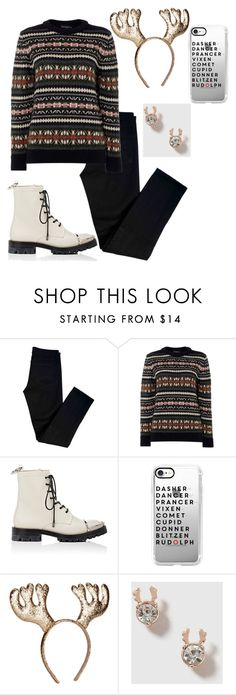 """""""Ugly Sweater Party 🎁"""" by styledbyaisya ❤ liked on Polyvore featuring J Brand, Gloverall, Alexander Wang, Casetify and Topshop"""