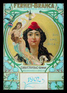 FERNET BRANCA 1902  -POSTER/LOCANDINA 32CM X 45CM