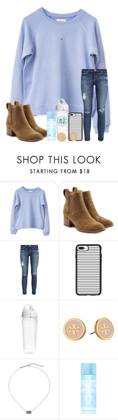 """i loved you dangerously"" by arieannahicks ❤ liked on Polyvore featuring rag & bone, AG Adriano Goldschmied, Casetify, Tervis, Tory Burch, Kendra Scott and Victoria's Secret PINK"