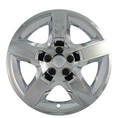 "4 New CHROME 07-12 MALIBU G6 AURA 17"" Bolt On Hub Caps 5 Spoke Rim Wheel Covers"