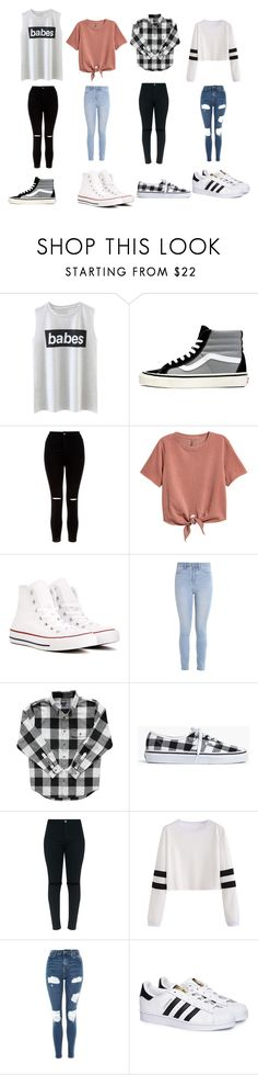 """PLEASE CHOOSE!!!"" by queenb-676 ❤ liked on Polyvore featuring Vans, New Look, Converse, Hollister Co., Madewell, Topshop and adidas"