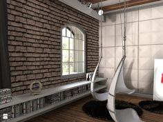 Salon - Styl Industrialny - K-STUDIO Architekt Wnętrz Katarzyna Teperek