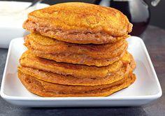 Clean Eating - Whole Wheat Pumpkin Pancakes with Maple Yogurt