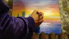 Painting a cityscape in 10 minutes 1 Mona Lisa, Watch, Artwork, Painting, Work Of Art, Bracelet Watch, Paintings, Clocks, Draw
