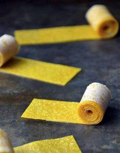 depois da escola idéias lanche saudável caseiro Mango Fruit Roll-Ups