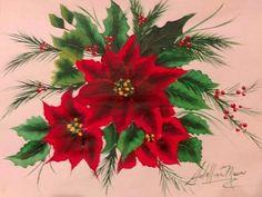 Nuevo video en mi canal you tube pintura multicarga la Poinsettia—Flor de Navidad, Pascuero