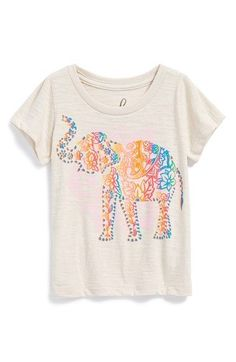 Peek 'Elephant Paisley' Graphic Slub Cotton Tee (Baby Girls) available at #Nordstrom