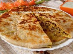 Pakistani Keema paratha - flatbread stuffed with spicy minced meat