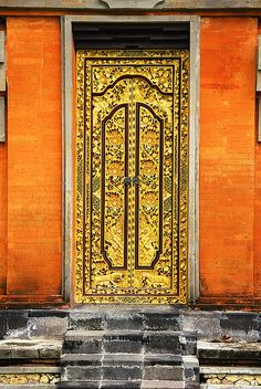 ♅ Detailed Doors to Drool Over ♅  art photographs of door knockers, hardware & portals - Temple Door ~ Bali