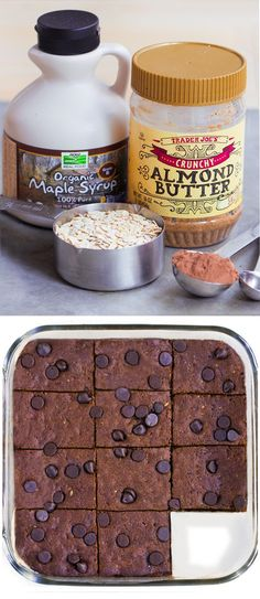 Fudgy homemade brownies - from @choccoveredkt... I make these at least once a week... No one ever can tell they're so healthy! ...Click for the recipe: http://chocolatecoveredkatie.com/2015/10/19/almond-butter-brownies-flourless-vegan/