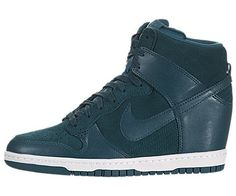 Nike Women's Dunk Sky HI Dark Sea/Dark Sea Lifestyle Shoe 8 Women US * Details can be found by clicking on the image.