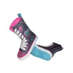 Koala Kids Girls Denim Super Hi-Top Shoes