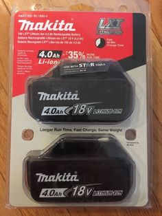 Brand New Makita BL1840-2 Battery 18-Volt 18V 4.0Ah LXT Lithium-Ion Cordless OEM #Makita