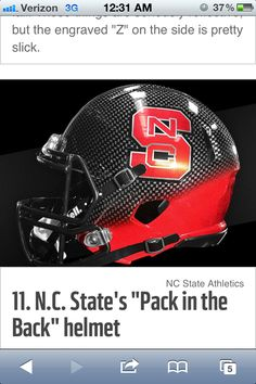 N.C. States new football helmets