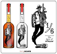 A winning bottle illustration by fan Joel Cameron