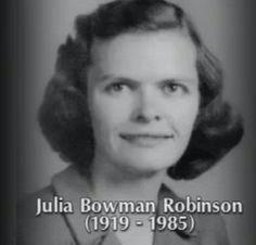 Julia Robinson and Hilbert's Tenth Problem   https://www.youtube.com/watch?v=e4x9XKNAYjU