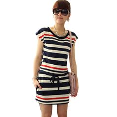 vestidos listrados curtos - Pesquisa Google