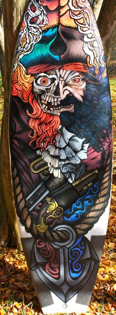 Blackbeards Revenge:Custom Mickey June art on an Al Merrick board