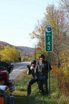 IMG#5618-Ben and I on Route 6, Pennsylvania, October 10, 2010...image taken by Geri Cheeseman.