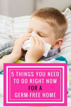 5 steps to a healthy, germ-free household. Tip #3 really surprised me, I had no idea. Easy tips to stay healthy this winter.