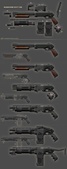 Pump Gun - weapon design by *Kai-S on deviantART