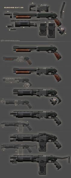 Pump Gun - weapon design by *Kai-S on deviantART