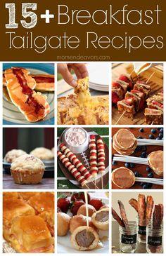 15+ Fun & Unique Breakfast Tailgate Ideas #football #tailgate #recipes