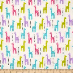 Michael Miller Baby Flannel Zoo Littles -It's a Girl Thing-Pink from @fabricdotcom  Designed by Michael Miller fabrics, this single napped (brushed on face side) flannel fabric is perfect for quilting, apparel and home décor accents. Colors include pink, purple, green, blue, and white.