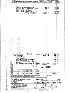"""John researched this invoice to his Mustang, which matched his car's VIN and had """"L Shinoda"""" in the ... - Provided by Hotrod"""