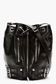 Black Medium Rider Bucket Bag