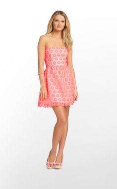 Payton Dress in Fiesta Pink Pinwheel Organza $348 (w/o 4/14/13) #lillypulitzer #fashion #style