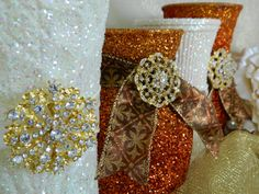 Wedding Centerpiece Wedding Decorations Fall Wedding by KPGDesigns, $17.95 Bronze Wedding, Burgundy Wedding, Ivory Wedding, Autumn Wedding, Gatsby Party, Gatsby Wedding, Wedding Vintage, Bridal Shower Favors, Bridal Shower Decorations