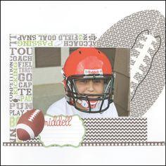Scrappin' Sports & More: Riddell {football} Helmet