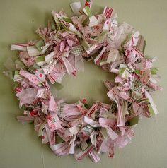 cottage style rag wreath