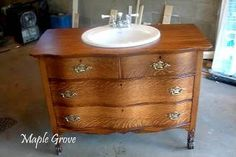 how to make a bathroom vanity out of an old dresser - Google Search