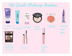 """""""7th Grade Makeup Routine"""" by sweet-cakes101 on Polyvore featuring beauty, Clean & Clear, COOLA Suncare, NYX, Kat Von D, Milani, Too Faced Cosmetics, Trish McEvoy, Victoria's Secret and Urban Decay"""