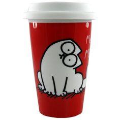 Siis täähän on PAKKO  saaha!!    Simon's Cat Travel Mug Meow I sooo would love one of these!!