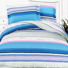 Bright Blue Sky Bedding KING 100% Cotton Chemical Free 4PC Duvet Cover Set