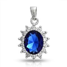 Valentines Day Gifts Bling Jewelry Kate Middleton Inspired Blue CZ Pendant -  http://www.amazon.com/gp/product/B004N89G7S?ie=UTF8&camp=1789&creativeASIN=B004N89G7S&linkCode=xm2&tag=casuarioscom-20