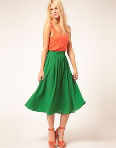 Style : Eleven Skirts That Will Make You Twirl  Simple Full Skirt With Paperbag Waist | ASOS